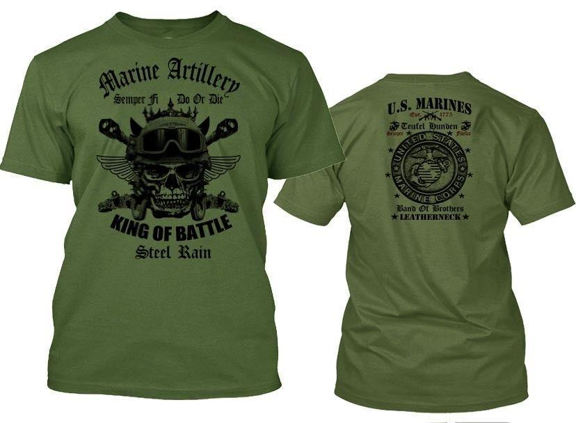 b25cdaf4 USMC T Shirt US Marines Artillery Semper Fidelis Leatherneck Combat Arms Tee  T Shirt A Day Retro Tee Shirts From Yuxin0006, $14.67| DHgate.Com