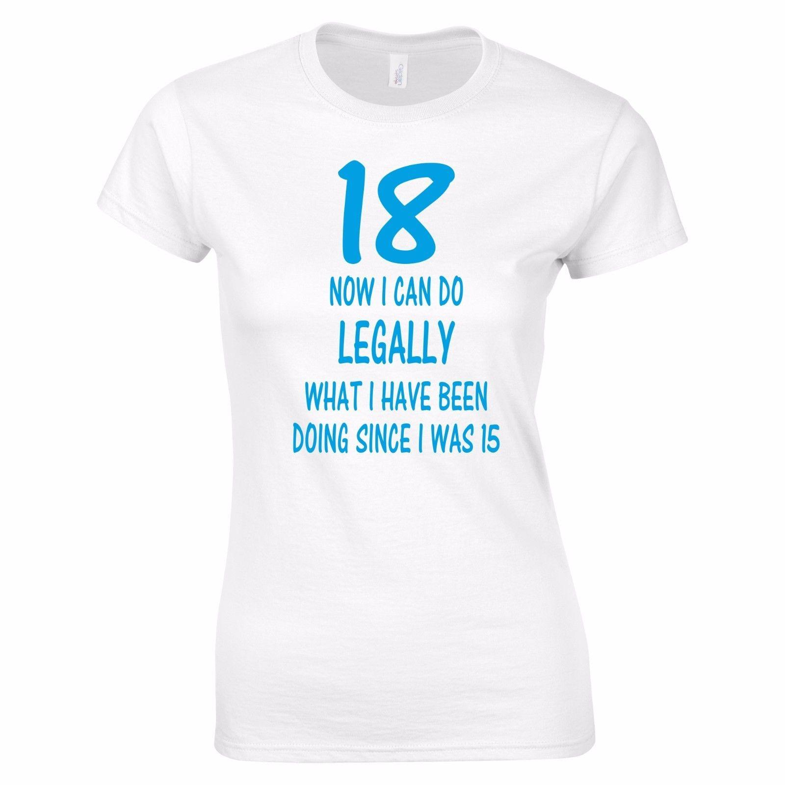 4151e824e 18 And Legal 18th Birthday Funny Tee T Shirt Top Tumblr Gift Xmas Secret  Santa Funny Unisex Casual Tshirt Tee Shirt Designs Humorous T Shirts From  ...