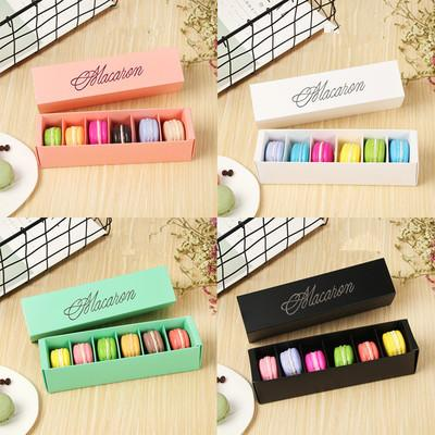 Macaron Box Cake Boxes Home Made Macaron Chocolate Boxes Biscuit Muffin Box Retail Paper Packaging 20.5*5.4*5.4cm Black Green EEA456