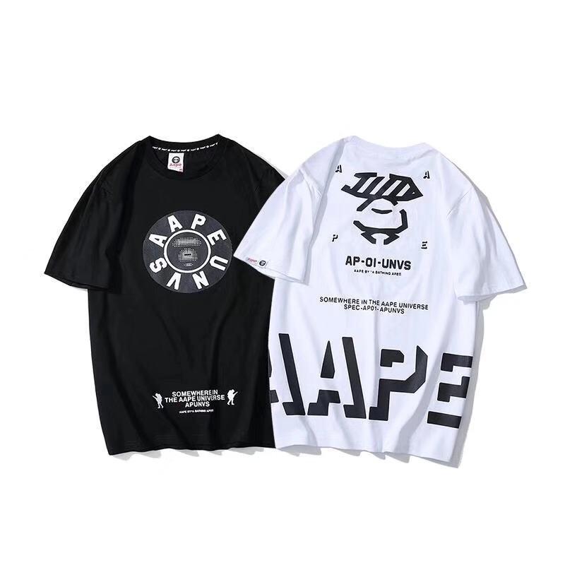 2019 Summer New AAPE A Bathing Ape Short Sleeve T-shirt Unisex Round Collar Tee