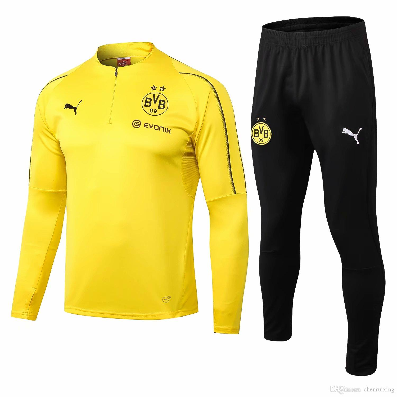 f10a948bb9e99 2019 Survetement De AC Milan Tracksuit Chandal Soccer Training Borussia  Dortmund Tracksuit Ronaldo Sportswear Suit 18 19 MESSI From Chenruixing