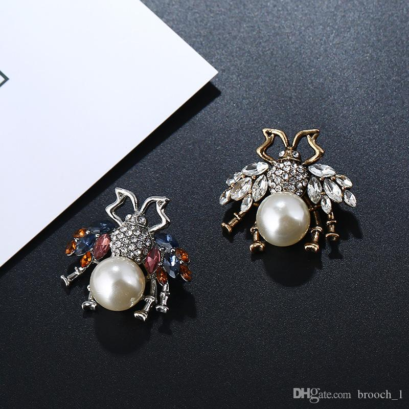 d40da2ce6c3 2019 New Designer Brooches Lovely Bee Pins Crystals Pearls Pins Accessories  For Women Mmens Clothes Costume Brooches Trendy Jewelry Lover Gift From  Brooch_1 ...