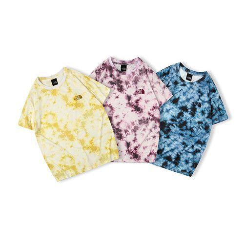 a1e2db68 2019 THE Japan NORTH Fashion T Shirt FACEDigital Tie Dye Classic Small  Label Short Sleeve Purple Blue Yellow M L XL XXL Mens Formal Shirts Buy T  Shirts ...