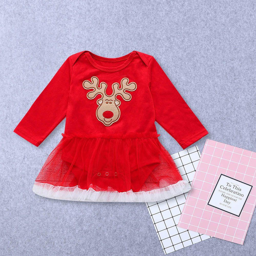 cb7d99ff437e0 good quality Kids dresses for girls Baby Girls costumes Long Sleeve Deer  Print Romper Dress Christmas Outfits Clothes vestido menina