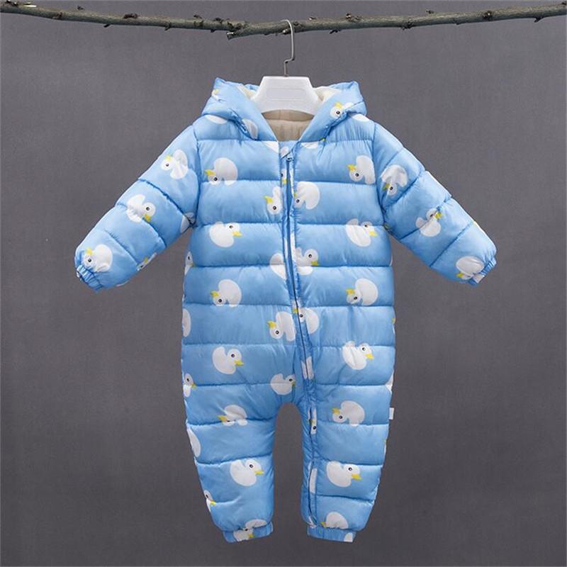 5d31e8e09 2019 BibiCola Baby Rompers Winter Newborn Bebe Romper Warm ...