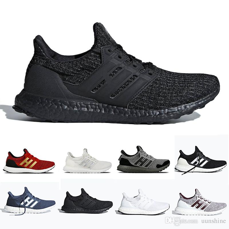 new arrival fc54a 0360c Ultra Boost 4.0 Triple Black and White Primeknit Oreo CNY Blue grey Men  Women Running Shoes Ultra Boosts ultraboost sports 36-45 designer