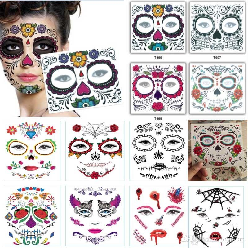 Disposable Eyeshadow Sticker Magic Eye Beauty Face Waterproof Temporary Tattoo Sticker For Makeup Stage Halloween Party Supplies FA2035