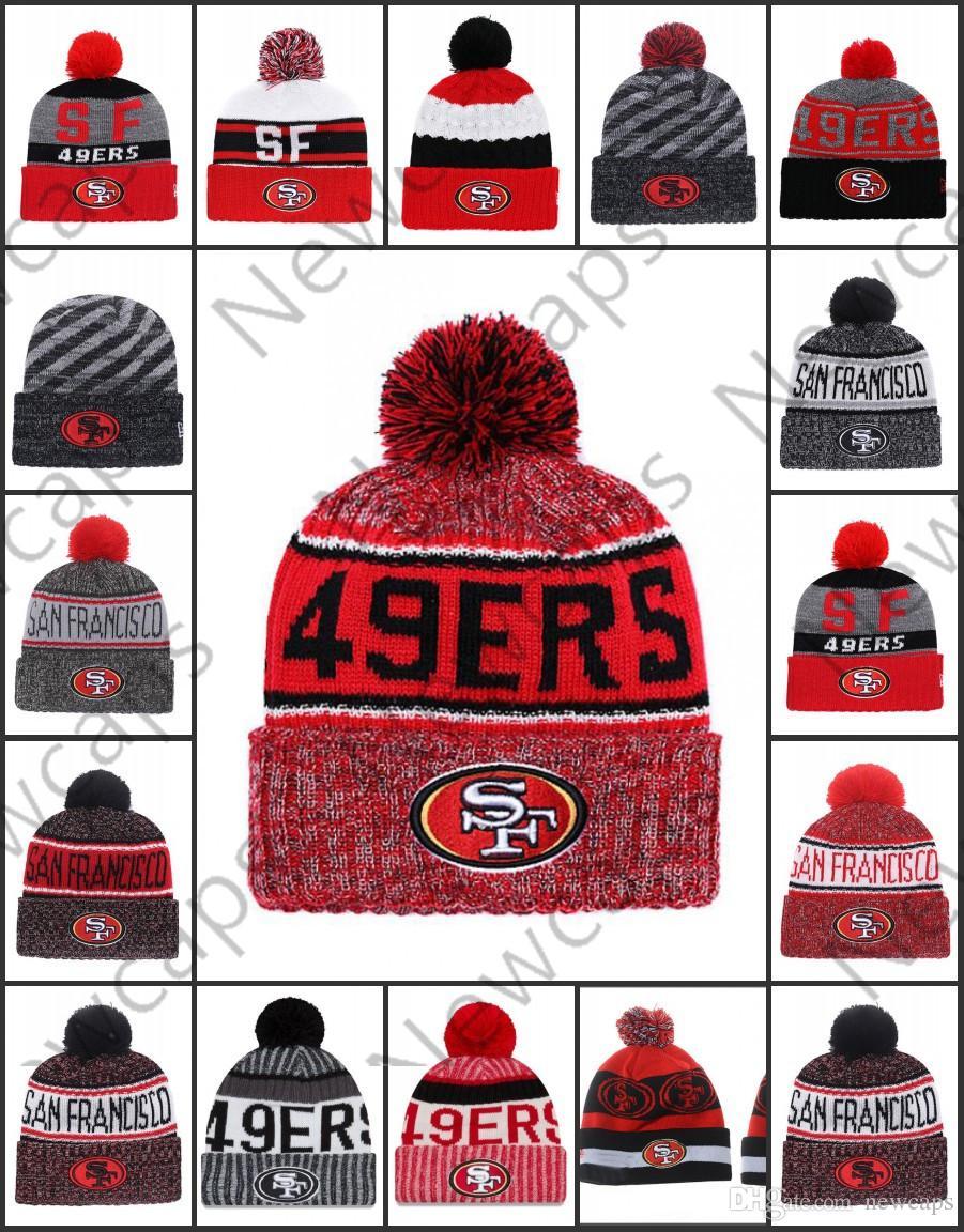 e56dfa402f7 Wholesale San Francisco Sport Winter Hats 49ers Stitched Team Logo Brand  Warm Men Women Hot Sale Knitted Caps Cheap Mixed Beanies Womens Baseball  Hats Cheap ...
