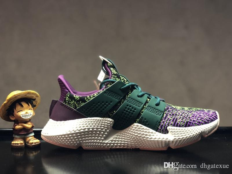 1e85184f776627 Mens Womens Dragon Ball Z X Prophere Cell Shoes Prophere Climacool Green  Purple White Shoes For Sale Office Shoes Running Shoes From Dhgatexue