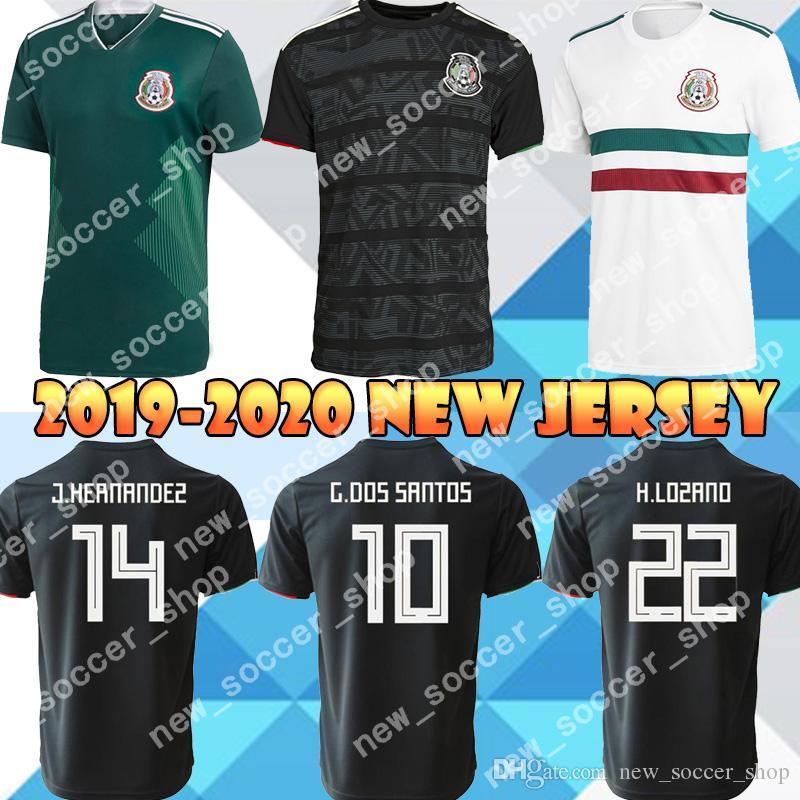 f3df99108 2019 2018 2019 Mexico Soccer Jerseys 22 H. LOZANO 14 CHICHARITO 16 H.  HERRERA 10 G. DOS SANTOS World Cup Home Away Football Shirt From  Seniorfootballjersey, ...