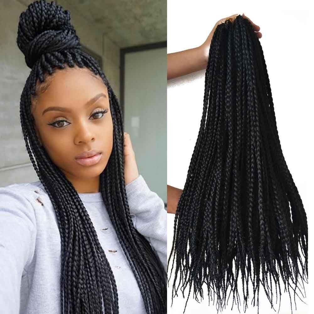 2019 Hot 5packs Full Head 18 Inches 3x Box Braids Crochet Hair