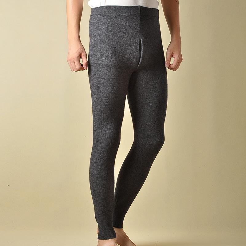 brand new 49b00 016f1 Pantaloni da uomo Cashmere Knitting Long Leggings Nuovo marchio  WinterSpring Warm soft Pant Maschio Leggings elastici di alta qualità