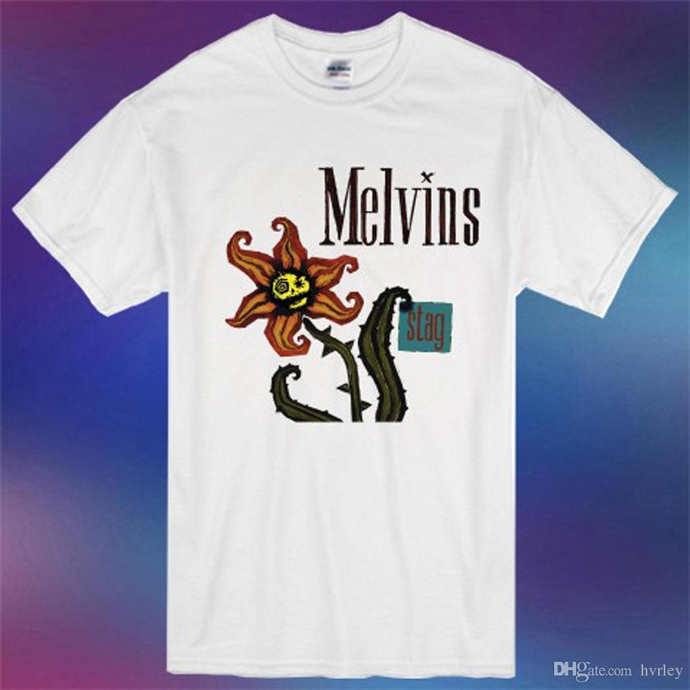 e6165c36475618 Nieuwe De Melvins STAG Rock Band Album Cover Logo Mannen Wit T Shirt Maat S  3XL Korte Mouwen Nieuwe Mode T Shirt Mannen Kleding Find A Shirt Shirts T  Shirts ...