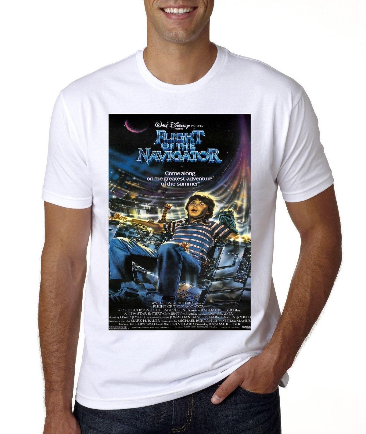 New Movie Poster Flight Of The Navigator T Shirt Print Shirt Long
