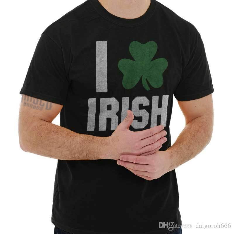 6d78aaf7d332 I Love Irish Funny Shirt Cool Patty St Patricks Day Gift Idea T Shirt  Quirky T Shirt Designs Purchase T Shirt From Daigoroh666, $10.81| DHgate.Com