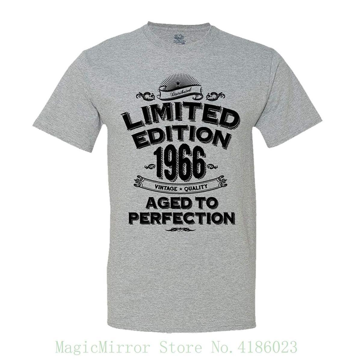 3f2e113e0 1966 Limited Edition 51st Birthday T Shirt Vintage Aged To Perfection T  Shirt Funny Print Tops Men T Shirt Shop Design Crazy T Shirts Online From  Jie68, ...