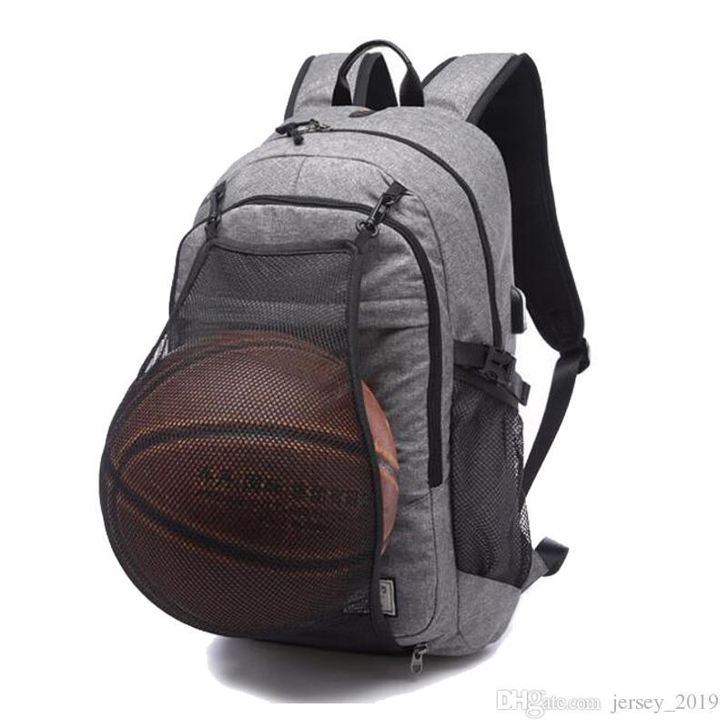 2adb6262e173 2019 Basketball Sports Gym Bags Backpack School Bag For Soccer Ball Men  Laptop Football Net USB Charging Backpacks Rucksack XA463WA  87051 From  Jersey 2019