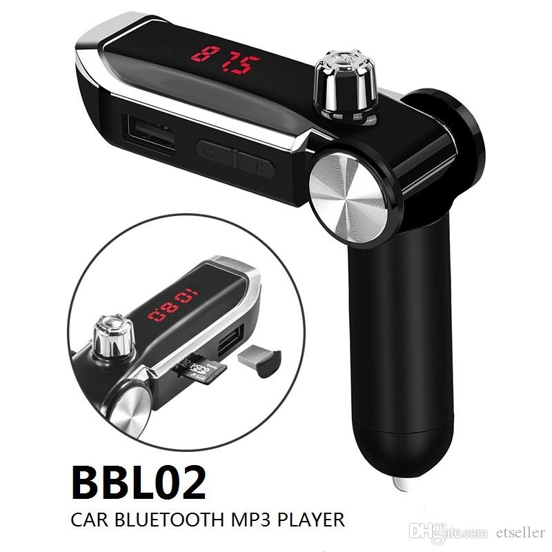 New 2019 BBL02 Bluetooth-Auto-FM-Modulator Hand-freie mp3-Player Wireless Music Audio Radio mit USB Schnell Fast Car Charger Kit