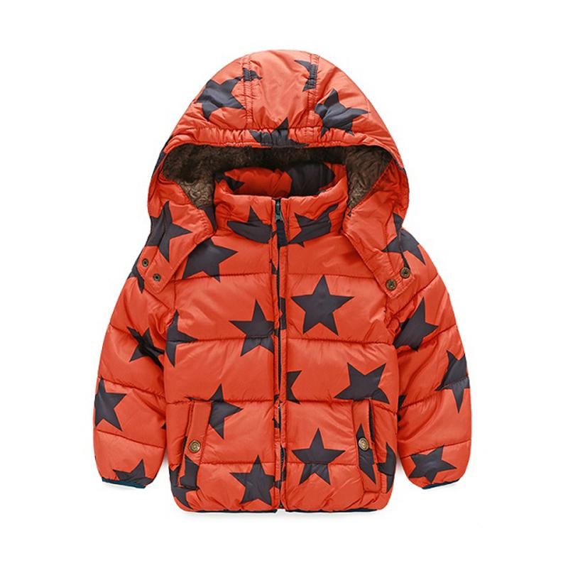 314cfdd47 Winter Coat Boys Puffer Jackets Child Zipper 3 8 Yrs Star Patten ...