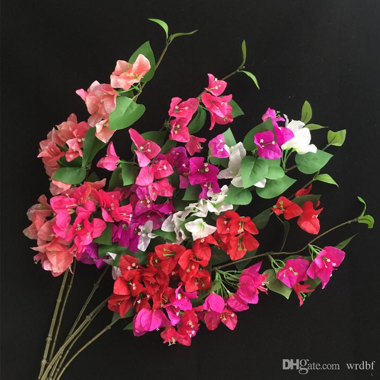 "Silk Bougainvillea Glabra Climbing Bougainvillea Flower Artificial Bougainvillea Tree Branches 31.5"" six Colors for Wedding Centerpiece"