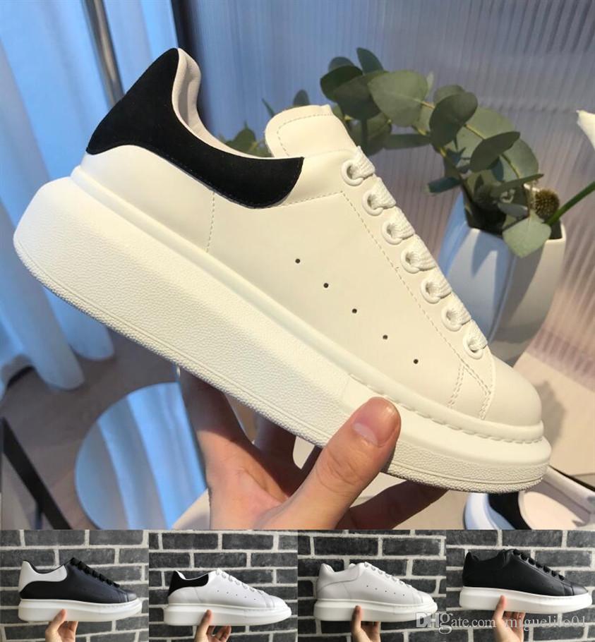 8ce119cf01cc1 Acheter Luxe Pas Cher Designer Hommes Femmes Sneaker Casual Chaussures Top  Qualité Vrai Cuir Sneaker Peau De Skateboard Chaussure Velvet Sneakers 36  45 De ...