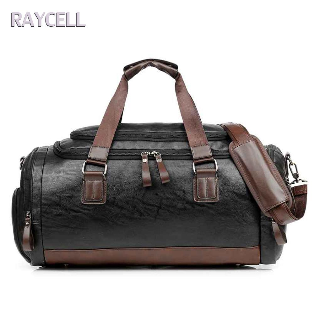 Fashion Men s Travel Bags Leather Brand Luggage