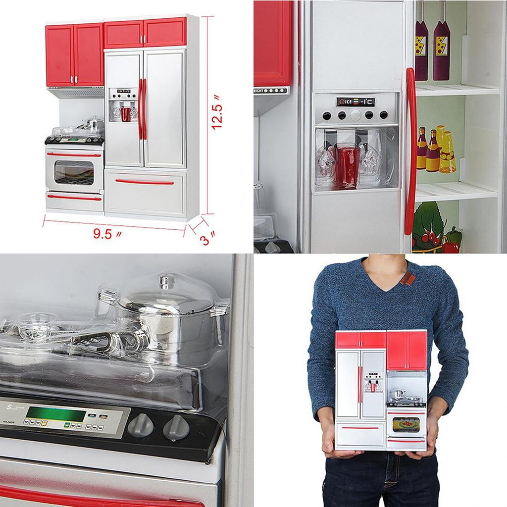 Children pretend role play new red mini kitchen jpg