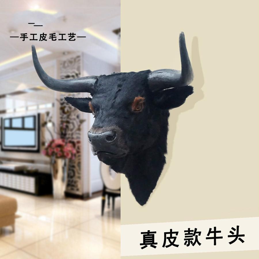 . Simulated Animal Bull Head Decorative Ornaments Bar Living Room Handicraft  With Bull Head Specimens Hang On Home Wall