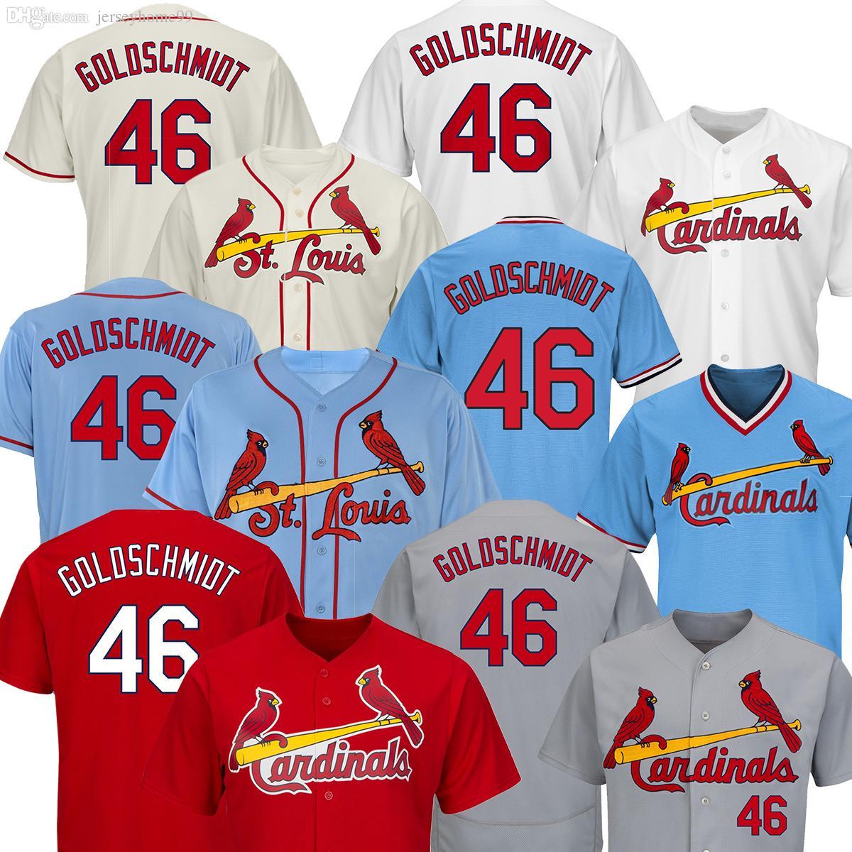 wholesale dealer fe568 e300f 2019 2019 Mens Baseball Jerseys St. Louis Cardinals 46 Paul Goldschmidt  Cream White Red Embroidery Shirt Cheap From Jerseyhome99,  32.49    DHgate.Com