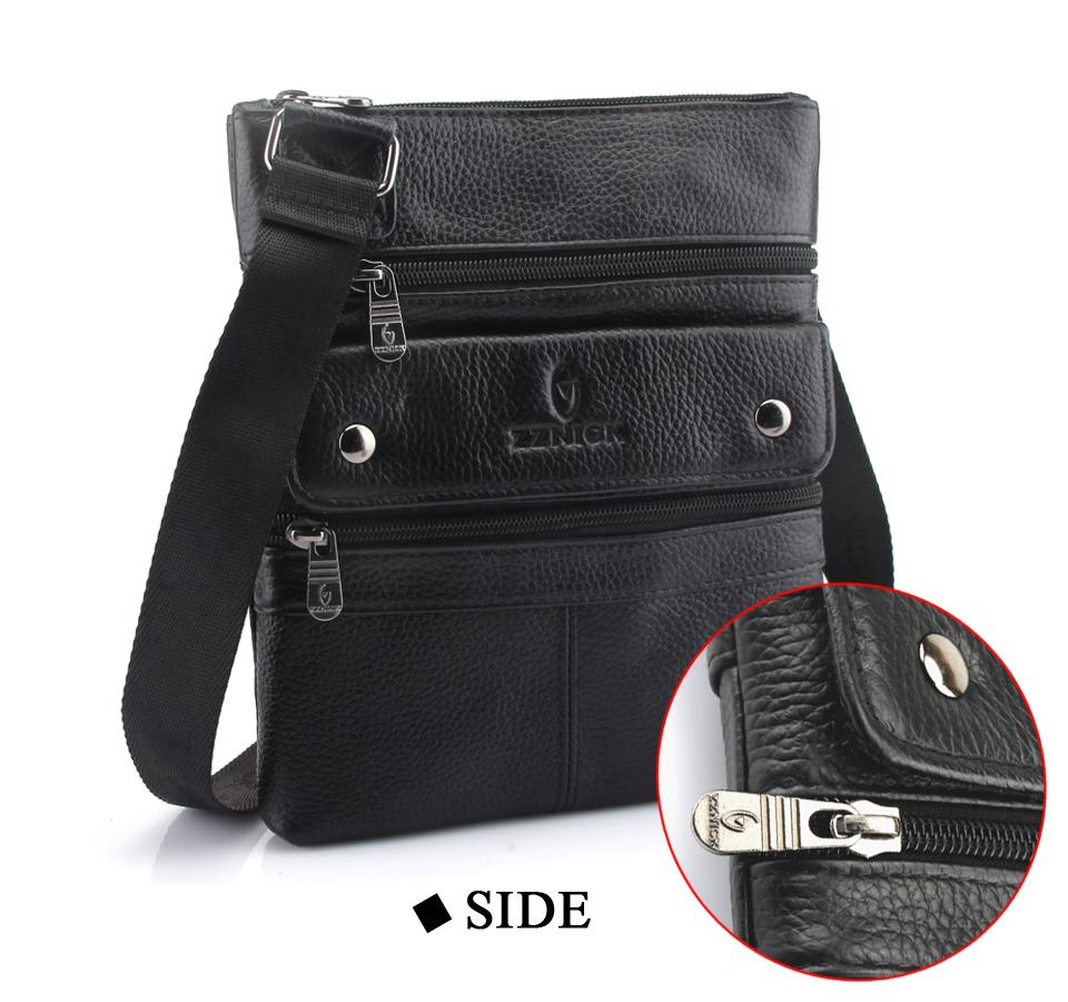 ZZNICK 2018 Cow Genuine Leather Messenger Bags Men Travel Business Crossbody Shoulder Bag for Man Sacoche Homme Masculina 6013*