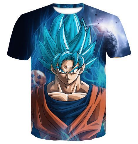 c1e8f2fb Newest Dragon Ball Z Goku Super Saiyan God Blue Vegeta T Shirt Women Men  Summer Unisex 3d Print Short Sleeve Crewneck Casual Tops Q385 In T Shirts T  Shirts ...