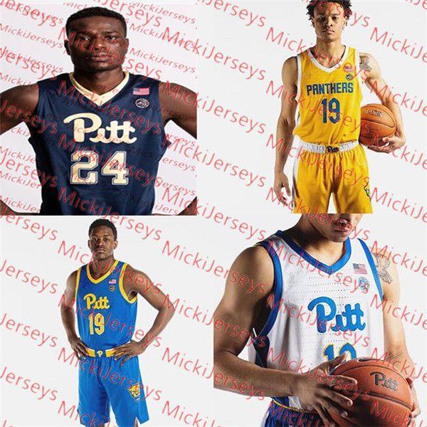 check out 68f42 771bc Custom Pittsburgh Panthers Basketball Jersey Brandin Knight Ashton Gibbs  Levance Fields Aaron Gray Julius Page Billy Knight Pitt Jersey
