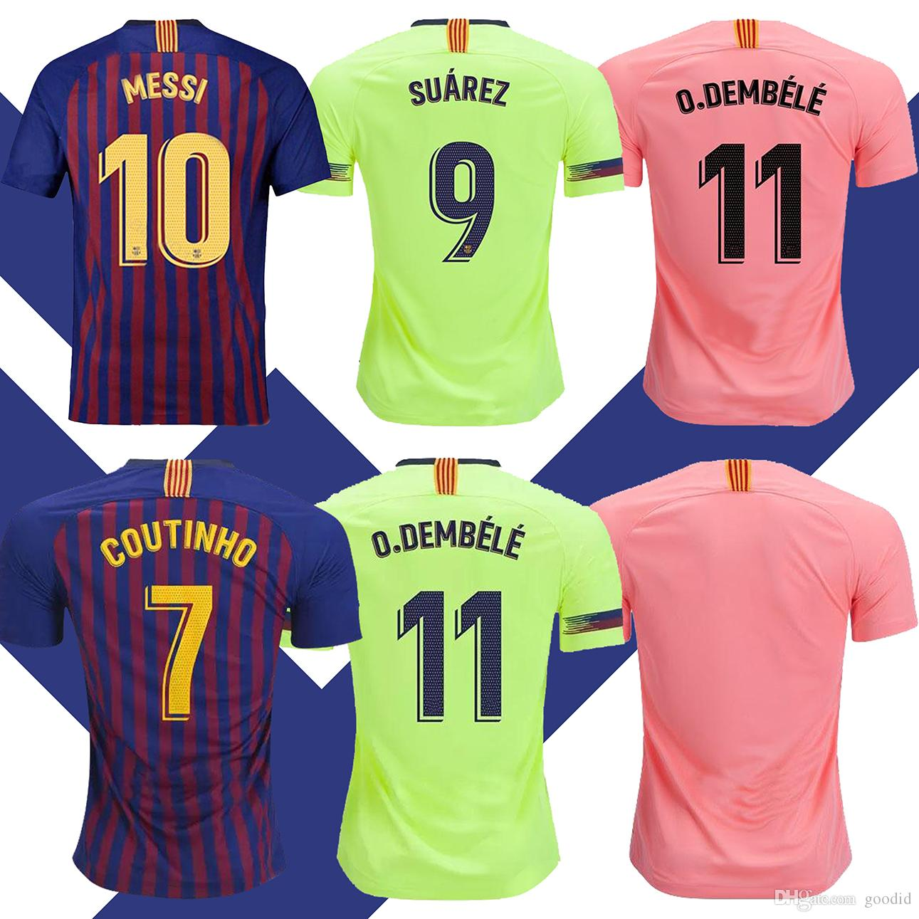 more photos 6b9df d324d 2019 Men Barcelona Soccer Jersey Iniesta Suárez MALCOM Dembele Coutinho  Football uniforms shirts Soccer Jerseys