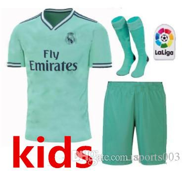low priced d38be e8a4e 2019/20 kids kit sock Real Madrid third Soccer Jersey soccer shirt #20  ASENSIO ISCO MARCELO madrid 19 20 Football uniforms