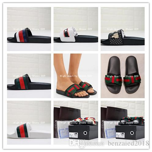 134576b0839 2019 2019 Best New Tiger Slide Beach Designer Slippers Pursuit Satin  Sandals Women Men Brand Luxury Shoes Casual Fashion Flip Flops Slipper 35 44  From ...