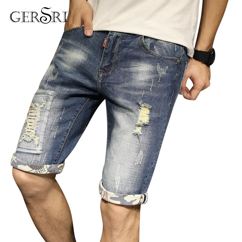 208c7f9ec7a 2019 Gersri Mens Plus Size Short Jeans Hot Bermuda Denim Vintage Blue  Stretch Short Large Big And Tall Jeans Shorts For Men Jean From Berniceone,  ...