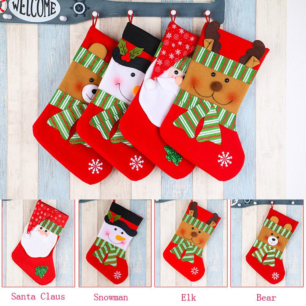 9c038c0f6a4 Newly Xmas Decorations For Home Xmas Gift Bag Christmas Stocking Sock Gift  Holders Santa Snowman Reindeer Hanging Deco Online Shopping Christmas  Decorations ...