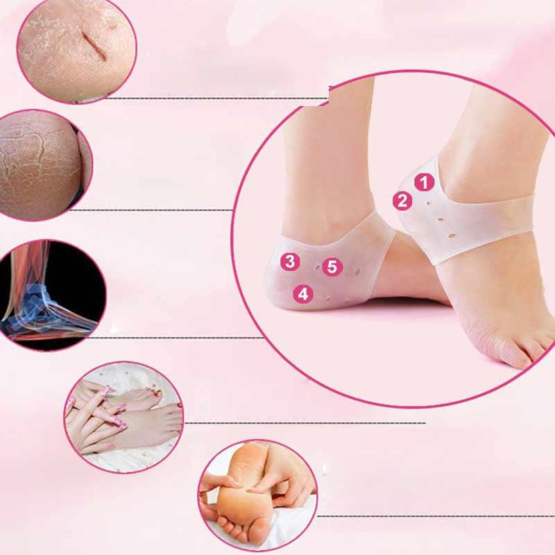 1Pair Breathable Silicone Moisturizing Socks Foot Massager Chapped Cracked Prevent Feet Massage Products Health Care