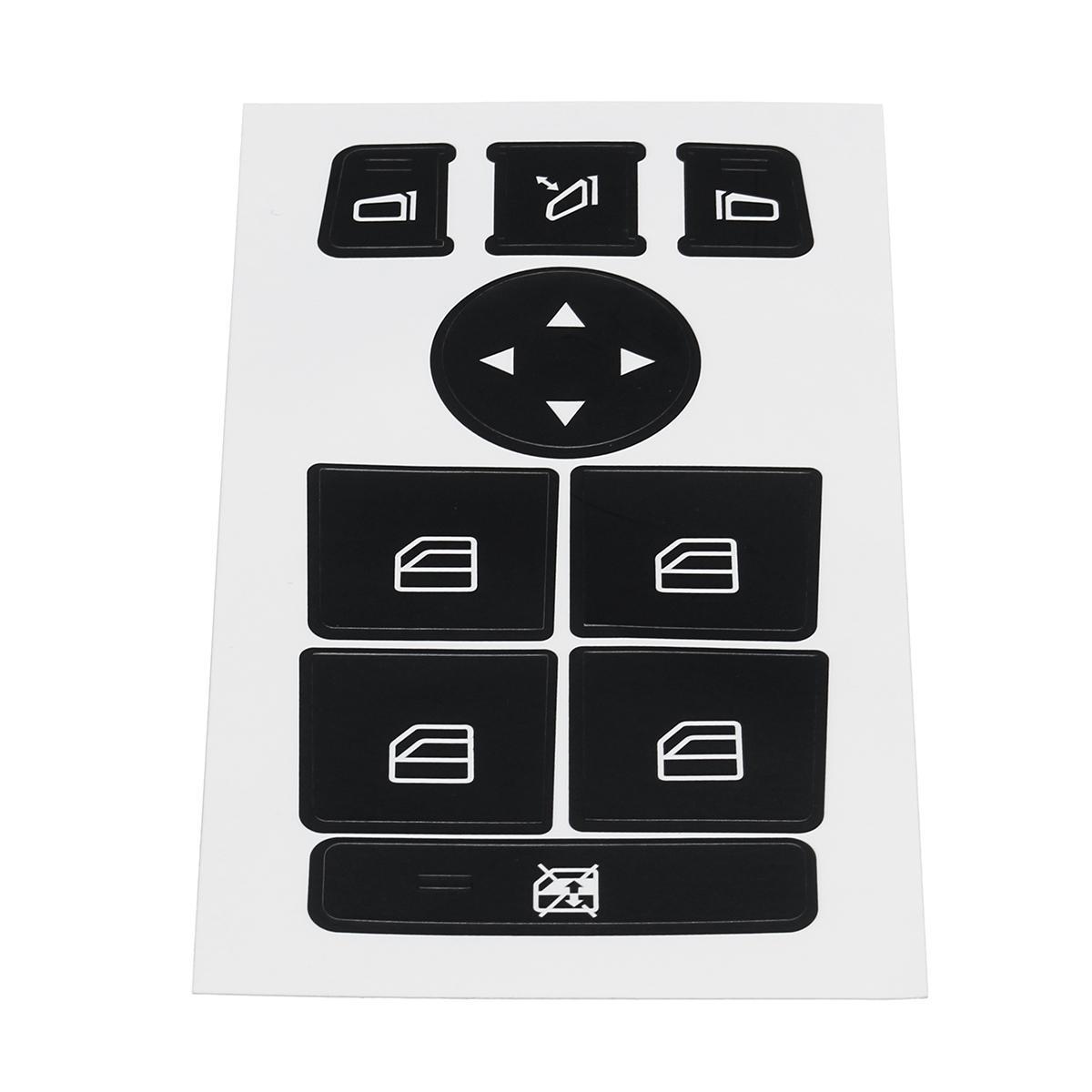 Benz 08-14 W204 C300 C350 Düğme Tamir Kiti için Mercedes İçin Araba Pencere Anahtarı Düğme Tamir Çıkartma Çirkin Düğmeleri Soluk Fix