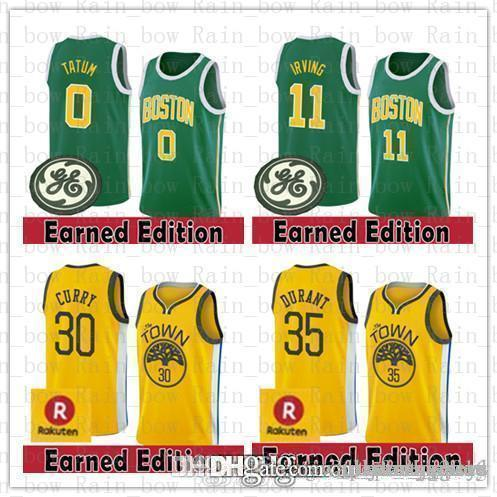656f1327b12 2019 Boston Jersey Celtic 11 Kyrie 30 35 Jayson 0 Tatum Golden Irving State  Jersey Warriors 2019 Stephen New 30 Curry Earned Kevin Edition Durant From  ...