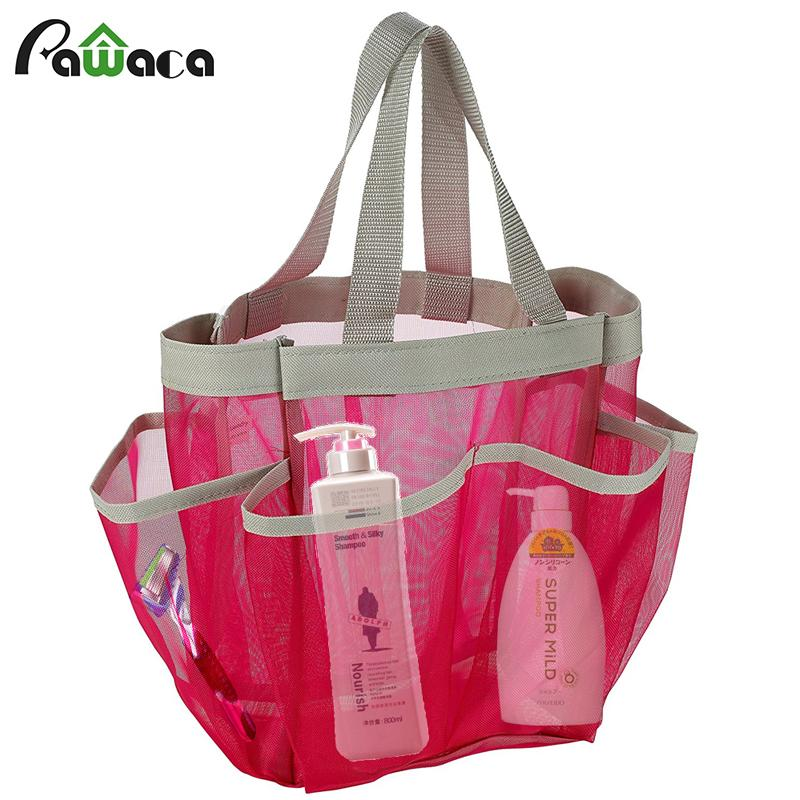 2019 Portable Quick Dry Shower Caddy Tote Bag Hanging Toiletry Mesh