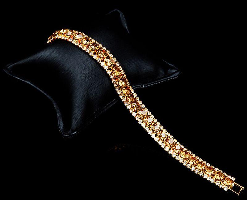 2018 Новый Шарм Свадебный Браслет Для Женщин Австрийский Хрусталь Свадебные Браслеты Браслеты Мода Серебряный Золотой Цвет Подарок Ювелирных Изделий