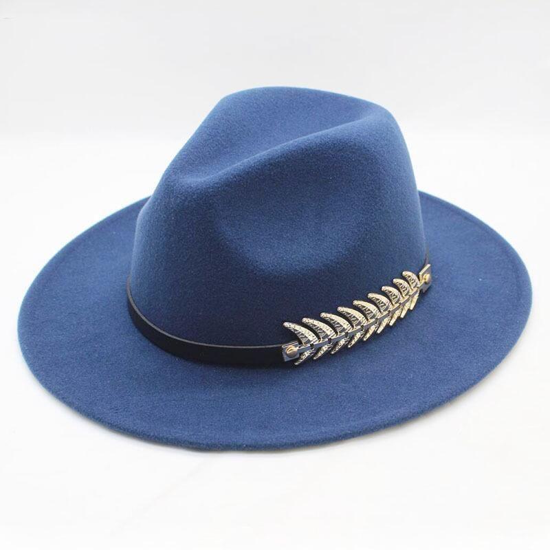 498c30529f1c6 SUOGRY Leaf Felt Men Fedora Hats With Belt Women Vintage Trilby Wool Fedora  Warm Jazz Hat Chapeau Femme Feutre Panaman Hat D19011102 Scrub Hats Mens Hat  ...