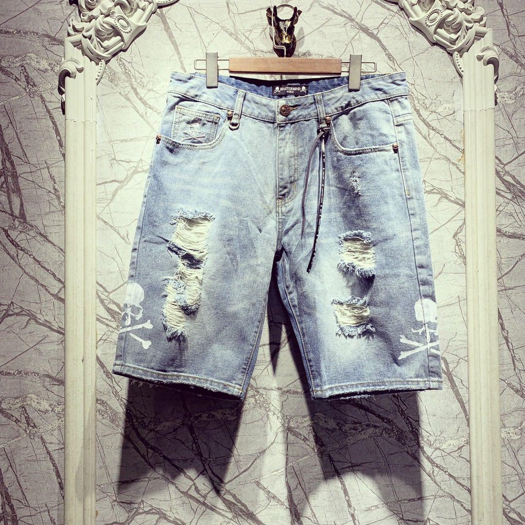 Summer Designer Japan Denim Shorts Jeans Hiphop Streetwear Hombres Denim Jeans Short Designer Blue Casual Short