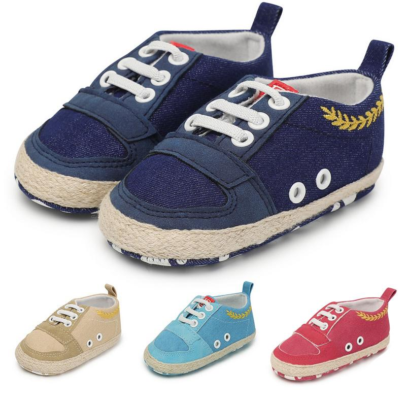 426cf2433ed2 2019 Baby Walker Newborn Shoes Soft Sole Toddler Boy Tennis Shoe Baby Boy  Sneakers Canvas Indoor Slipper Infant First Step New Born From Askkit