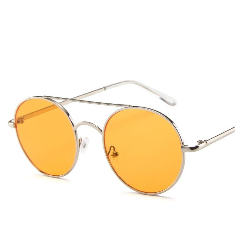 55080faaa008 New Round Sunglasses Women Ocean Lens Mirror Sun Glasses Men Luxury Brand  Design Metal Frame Vintage Glasses Oculos UV400 Baseball Sunglasses John  Lennon ...