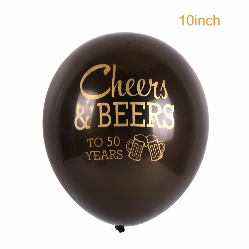 QIFU Happy Birthday Party Decorations Adult Balloon Air 30 40 50 Years Latex Balloons Birthday Anniversary Party Decortion