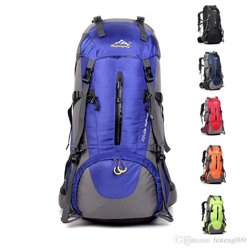 Buy Cheap Outdoor Sports Bag 50l Hiking Backpack Camping Sport Rucksack Bag Man Women Climbing Nylon Waterproof Backpacks Rain Cover Sports & Entertainment