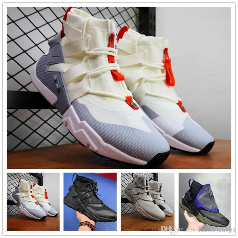 New Arrival 2019 Top Quality HUARACHE GRIPP QS Running Shoes Men Huaraches  GRIPP QS X Acronym City MID Boots Sneakers Size US 7 11 Sale Shoes Men Shoes  ... 7ec74e3ef