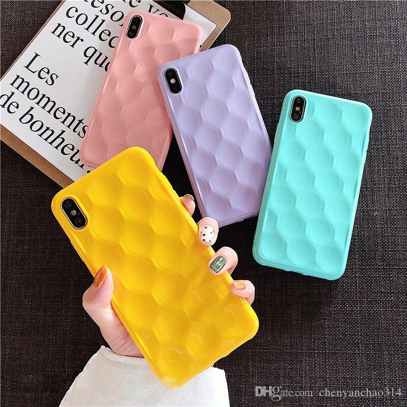 Solid Color Uneven Phone Cases For iPhone XS Max XR For iPhone 6 6S 7 8 Plus X Soft TPU Electroplated Back Cover Coque